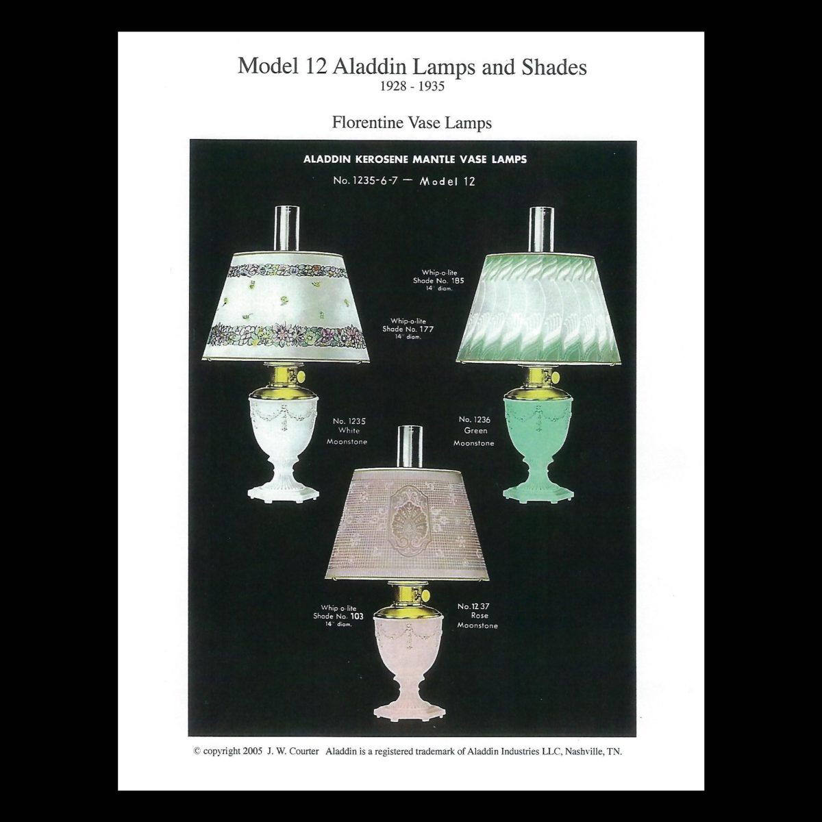 Model 12 Aladdin Lamps And Shades 1928 1935 Imperial Lighting Co