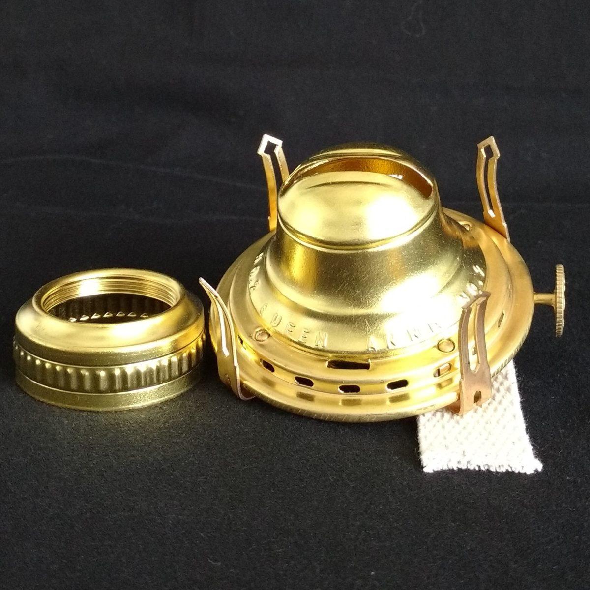 QUEEN  ANNE No 1  SOLID  BRASS OIL  LAMP  BURNER